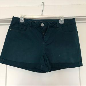 Lauren Conrad teal cuffed jean shorts